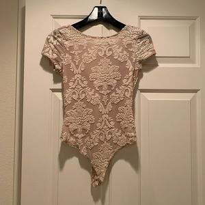 Nude Versailles Print Body Suit NWT